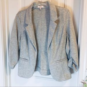 Gray Blazer with Lace Detail - Candies